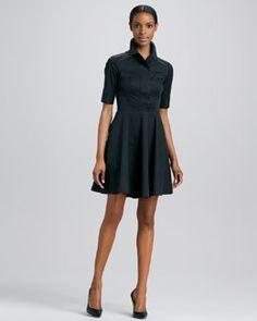 T6HTH DKNY Half-Sleeve Shirt Dress