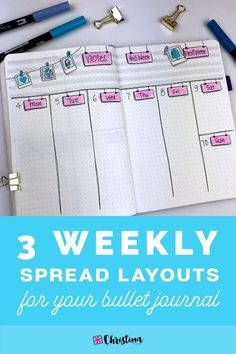 In this post I'll show you the 3 layouts I'm using for my weekly spreads in my bullet journal for June, and how I decorated them. #bulletjournalweekly #bujoweeklyspread #bulletjournalweeklyspreads #bulletjournalweeklylayouts #bulletjournalweeklyplanning #weeklyspreadlayouts #bulletjournalideas #bulletjournalweeklylog