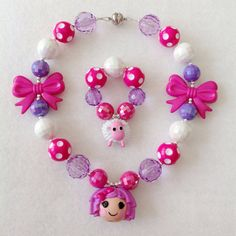 Lalaloopsy Necklace & Bracelet  Pillow by HotPinkNChocolate, $25.00