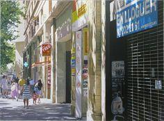 En Lloguer, Barcelona Times Square, Barcelona, Street View, Van, Travel, Painting, Viajes, Vans, Painting Art
