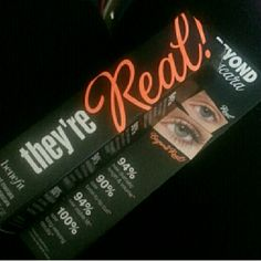 Benefit They're Real Mascara New in package black mascara that drastically plumps and legnthens and conditions your lashes. Benefit Makeup Mascara