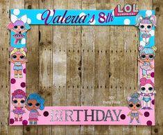 LOL photo booth frame for Valeria's Birthday Party. LOL photo booth frame for Valeria's Birthday Party. Party Photo Frame, Party Frame, Photo Booth Frame, 50th Birthday Party Games, Birthday Photo Booths, 4th Birthday, Surprise Birthday, Birthday Ideas, Photo Humour