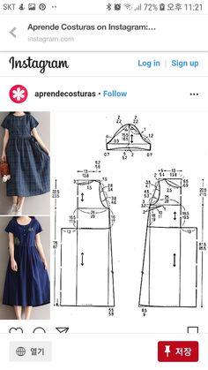 Sewing Shorts, Sewing Blouses, Sewing Tutorials, Sewing Patterns, Fashion Pants, Fashion Dresses, Pattern Design, Free Pattern, Dress Making Patterns