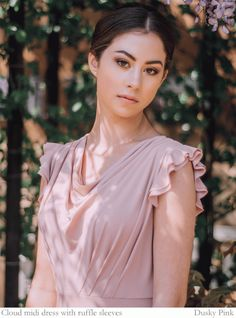 Beautiful Multiway Bridesmaid Dresses By Willow & Pearl in blush. Multiway Bridesmaid Dress, Designer Bridesmaid Dresses, Designer Dresses, Custom Dresses, Dresses Uk, Pearl Love, Sleeve Designs, Maid Of Honor, I Dress