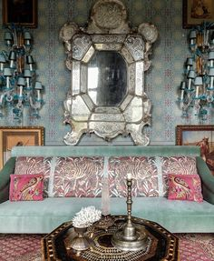 Instagram Blue Rooms, Venetian Mirrors, Ottoman, The Creator, Photo And Video, Frame, Unique, Furniture, Instagram
