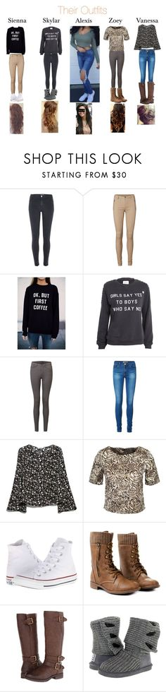 """""""outfits"""" by little1dthings ❤ liked on Polyvore featuring beauty, River Island, Vero Moda, Zoe Karssen, MANGO, AX Paris, Converse, Naturalizer and Bearpaw"""