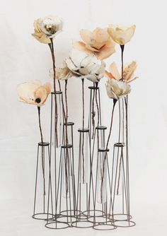 DIY watercolor paper flowers #Decoration #Inspiration for #Home www.Your24hCoach.com