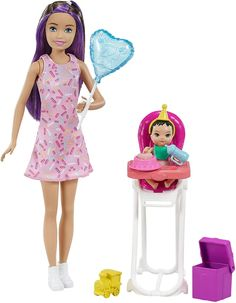 Barbie Kids, Barbie Doll Set, Barbie Skipper, Barbie And Ken, Babysitting Fun, Pink Frosting, Barbie Collector, Wow Products, Babysitters