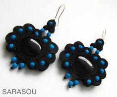 Extremaly stylish earrings by Sarasou. #Sarasou #WF2016 #soutache #soutacheembriodery  #dropearrings
