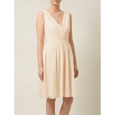 Buy Kaliko Chiffon Bead Dress, Cream Online at johnlewis.com
