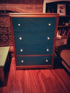 Peacock Blue Antique Dresser