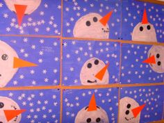 winter Decor Crafts, Easy Crafts, Christmas Cards, Christmas Decorations, Arts Ed, Winter Activities, Art Lessons, Snowman, December