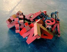Alejandra Laviada - Mexico City, Mexico artist  ---write a poem or anything or find a poem or saying.  Make a sculpture with the letters.