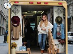 There are now nearly 500 fashion trucks — clothing boutiques on wheels — in the US, and more to come. Boutique Clothing, Fashion Boutique, Clothing Boutiques, Mobile Fashion Truck, Little Trailer, Mobile Boutique, Mobile Shop, Fru Fru, Mobile Art