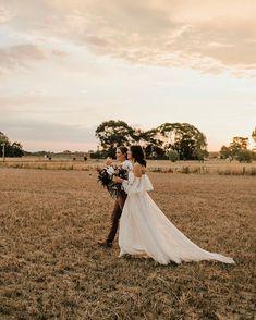 Amelia & Ellie @asterandrose.weddings @madelinekatephotography Amelia, Milan, Wedding Photos, Barn, Victoria, Weddings, Wedding Dresses, Fashion, Marriage Pictures