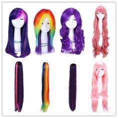 My Little Pony Twilight/Fluttershy/Rainbow/Rarity/Pinkie Pie/AJ cosplay wig/tail $6 on eBay!