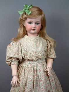 """36"""" bisque and composition no. 390 doll, Germany, by Armand Marseille."""