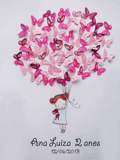 Discover thousands of images about x Personalized Pink Ombre Name Butterfly Wall Art - Newborn - Baby - Nursery - Baby Shower - Gift Butterfly Party, Butterfly Wall Art, Paper Butterflies, Paper Flowers, Diy Paper, Paper Art, Paper Crafts, Diy And Crafts, Crafts For Kids