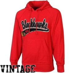 Old Time Hockey Chicago Blackhawks Hudson Pullover Hoodie - Red