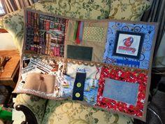Man's Fidget Lap Quilts for Alzheimer Autism by NansSewingCorners