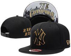 7504ff71c9a MLB New York Yankees Black Snapback Hats--SD Black Snapback Hats
