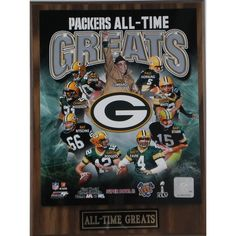 Bay Packers 'All Time Greats' Plaque