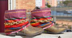 ETHNIC BOOTS with Ecuadorian textile por MISIGABRIELLA en Etsy