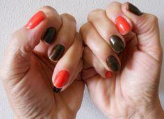 marrom e vermelho  brown and red
