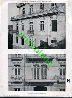 Stampa Fotografica primi 900 22x34 palazzina Velaridi in via dei mille a Napoli | eBay