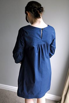 MARTHA DAY DRESS (100% Cotton)    This is a comfortable yet elegant day dress\/tunic made from soft cotton of a medium weight; perfect for…