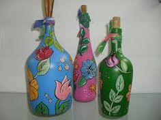 Aplicação de chita em garrafas de vidro Visitar página Visualizar imagem - Pesquisa Google