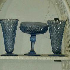 Indiana blue cut glass