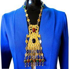 New Listing - Vintage Massive Byzantine Accessocraft N.Y.C. Pendant Necklace