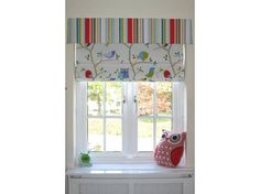 Cute stripe pelmet and roman blind for childs room