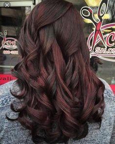 Chocolate Cherry Hair Color, Cherry Hair Colors, Red Hair Color, Brown Hair Colors, Black Cherry Hair Color, Dark Cherry Hair, Red Colour, Cherry Red, Red Chocolate