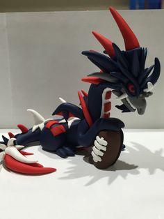 Polymer clay dragon Patriots dragon Patriots by KiwikoiOriginals