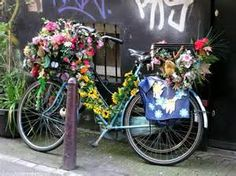 Custom-decorated bikes are easier to find back #thestreetsofamsterdam