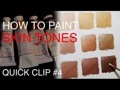Mixing flesh tone acrylic painting: How to mix  match skin tones in painting - YouTube