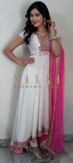 Must have Bollywood Style! Find a style match to the celebrity look of your choice at http://www.kalkifashion.com/salwar-kameez/anarkali-salwar-kameez.html