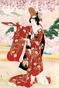 """Maiko"" (geisha) by Haruyo Morita Art Geisha, Art Chinois, Art Asiatique, Illustration Art, Illustrations, Art Japonais, Korean Art, Art Moderne, Japanese Painting"
