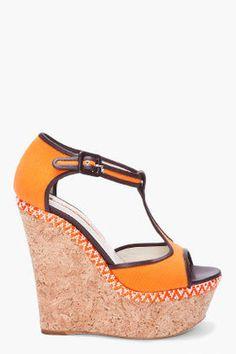 ShopStyle: Orange Kalit Wedges