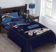 Disney Star Wars Star Fighter Super Soft Luxury Twin Size Reversible 4 Piece Comforter //Price: $29.26 & FREE Shipping //     #bedding sets