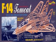 Balsa Model Kit Description  The Guillows 1/40 Grumman F-14 Tomcat is a balsa wood aircraft model kit from the range manufactured by Guillow.  The first F-14 Tomcat made its maiden flight on Dec. 21, 1970. It was the culmination of an extensive Grumman Aerospace Corporation's design program to meet U.S. Navy specifications for an effective shipboard fighter. The F-14 was introduced to the fleet on Oct. 14, 1972 and went to sea for the first time in operational deployment on Sept. 17, 1974.