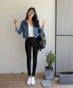 Kleidung koreanische Mode-Outfits 961 When Did Dogs Beco Korean Fashion Trends, Asian Fashion, Look Fashion, Teen Fashion, Fashion Outfits, Fashion Design, Fashion Ideas, Jackets Fashion, Casual Korean Outfits