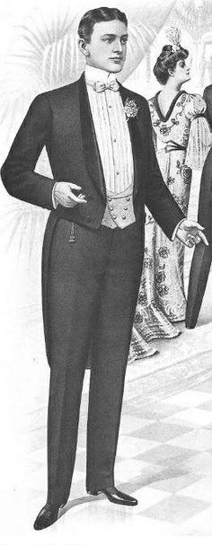 Turn-of-the-century White-Tie, men's formalwear. Met Gala 2014 - White-Tie Who? - Tyranny of Style