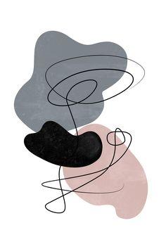 Abstract Art Set of 3 Prints - - Wall Art Wallpaper, Graphic Wallpaper, Office Wallpaper, Abstract Shapes, Abstract Art, Scandinavian Wall Decor, Room Wall Painting, Geometric Wall Art, Wall Art Designs