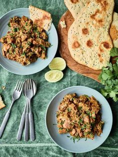 Nadiya Hussain's Jackfruit Curry with a foolproof no-yeast naan recipe is a clever twist on a classic curry, swapping meat for jackfruit. To make this vegetarian dish vegan, just skip the naan. Veggie Recipes, Indian Food Recipes, Vegetarian Recipes, Cooking Recipes, Healthy Recipes, Ethnic Recipes, Vegetarian Dish, Veggie Food, Veggie Dishes