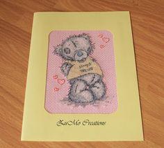 Tatty Teddy   cross stitch card