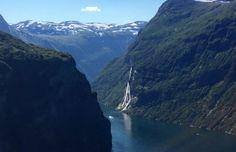 Cliffs in Geirangerfjord, Norway