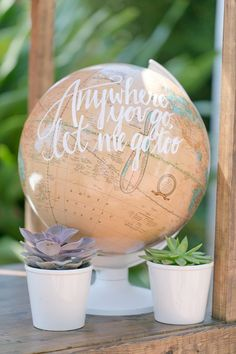 globe wedding decor ideas / http://www.deerpearlflowers.com/travel-themed-wedding-ideas-youll-want-to-steal/